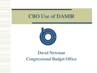 CBO Use of DAMIR