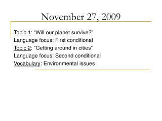November 27, 2009