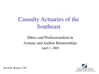 Casualty Actuaries of the Southeast