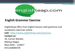 English Grammer Exercise