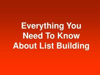 Instant List Building Bulletin