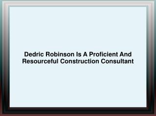 Dedric Robinson