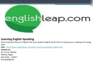 Learning English Speaking