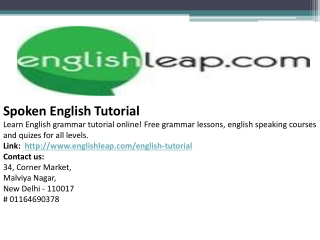 Spoken English Tutorial