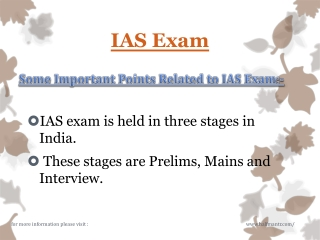Latest information about IAS Exam