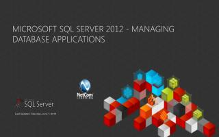 Microsoft SQL Server 2012 - Managing Database Applications