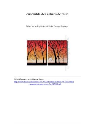 ensemble des arbres de toile -- Artisoo