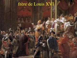 Couronnement de Charles X, fr re de Louis XVI