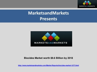 Biocides Market worth $9.6 Billion by 2018