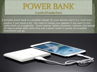 Power Bank:portable mobile charger