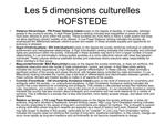 Les 5 dimensions culturelles  HOFSTEDE