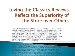lovingtheclassics.com reviews, complaints, scam, ripoff