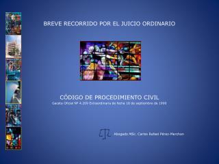 BREVE RECORRIDO POR EL JUICIO ORDINARIO