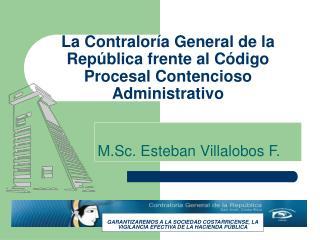 La Contralor a General de la Rep blica frente al C digo Procesal Contencioso Administrativo