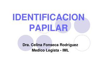 IDENTIFICACION PAPILAR