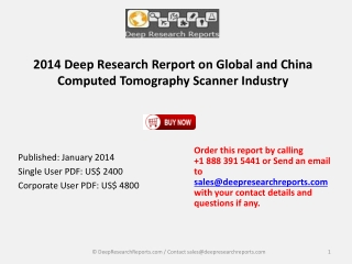 China and Global Computed Tomography Scanner Industry