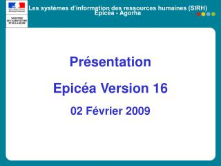 Les syst mes d information des ressources humaines SIRH Epic a - Agorha