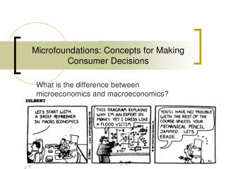 Microfoundations: Concepts for Making Consumer Decisions