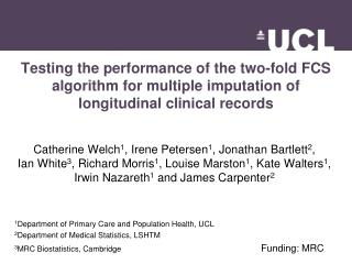 Testing the performance of the two-fold FCS algorithm for multiple imputation of longitudinal clinical records