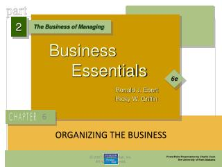 ORGANIZING THE BUSINESS