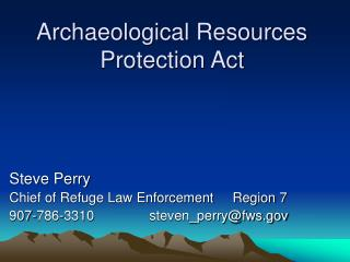 archaeological resources protection act