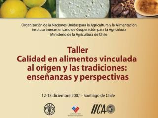 S ntesis de los casos de estudio FAO-IICA sobre procesos y sellos de calidad vinculada al origen en America Latina  aspe