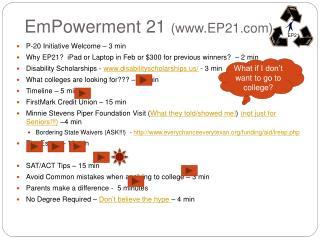 EmPowerment 21 EP21