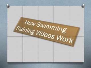 How Swimming Training Videos Work