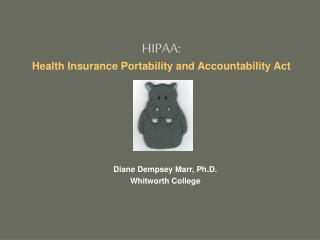 HIPAA:  Health Insurance Portability and Accountability Act