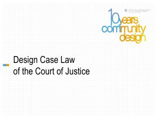 Design Case Law of the Court of Justice