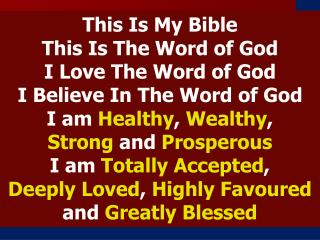 This Is My Bible                               This Is The Word of God              I Love The Word of God