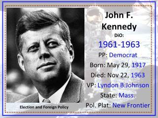John F. Kennedy DiO:  1961-1963