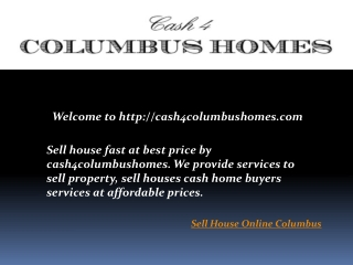Sell House Online Columbus