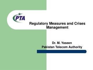 Regulatory Measures and Crises Management