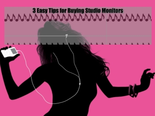 3 Easy Tips for Buying Studio Monitors