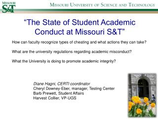 The State of Student Academic Conduct at Missouri ST
