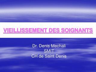 VIEILLISSEMENT DES SOIGNANTS
