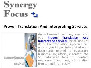 Get translation and interpreting services from authorized tr