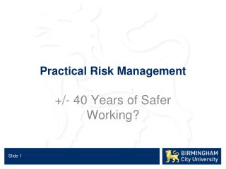 Practical Risk Management