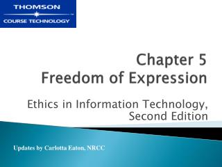 Chapter 5  Freedom of Expression