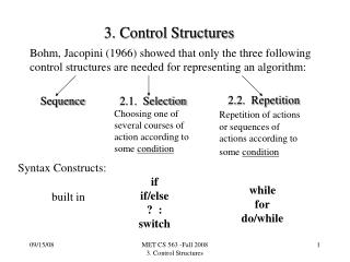 3. Control Structures