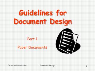 Guidelines for  Document Design