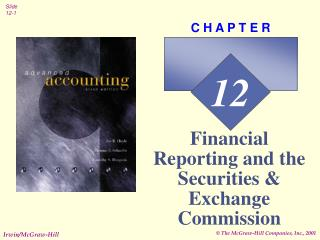 Financial Reporting and the Securities  Exchange Commission