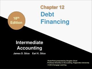 Intermediate Accounting James D. Stice    Earl K. Stice