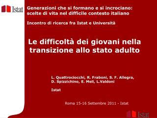 Roma 15-16 Settembre 2011 - Istat