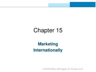 Marketing Internationally