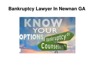 Bankruptcy Lawyer Newnan GA