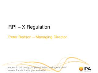 RPI   X Regulation