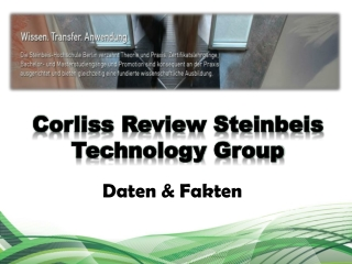 Corliss Review Steinbeis Technology Group Daten