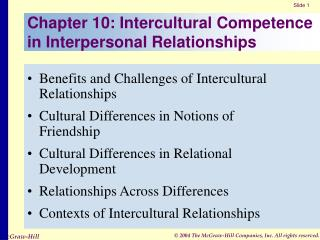 Chapter 10: Intercultural Competence in Interpersonal Relationships